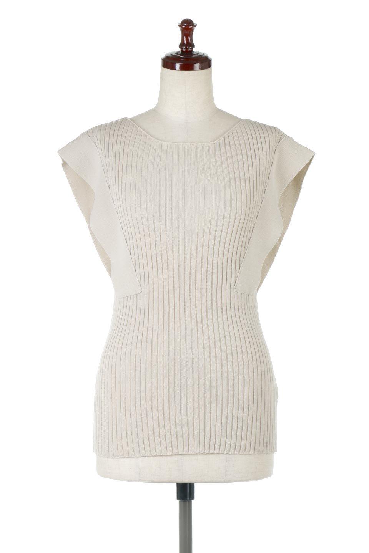 SquareFrenchSleeveTopスクエアフレンチスリーブ・リブトップス大人カジュアルに最適な海外ファッションのothers(その他インポートアイテム)のトップスやカットソー。袖のデザインが印象的なリブトップス。首元や裾は縫い目の無いシームレスな作りで、すっきり見えるシルエット。/main-5