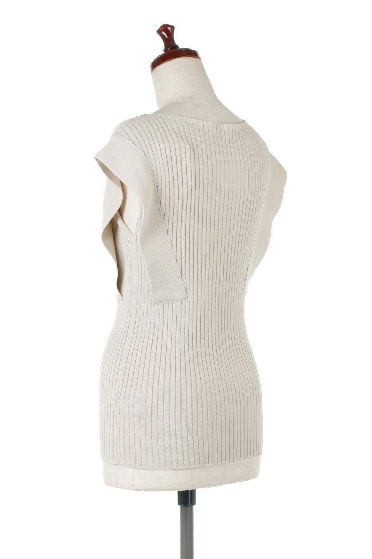 SquareFrenchSleeveTopスクエアフレンチスリーブ・リブトップス大人カジュアルに最適な海外ファッションのothers(その他インポートアイテム)のトップスやカットソー。袖のデザインが印象的なリブトップス。首元や裾は縫い目の無いシームレスな作りで、すっきり見えるシルエット。/main-8