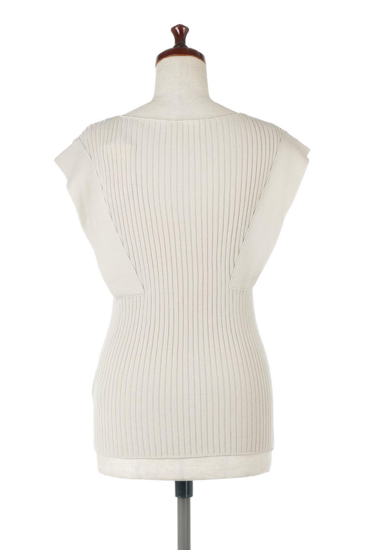 SquareFrenchSleeveTopスクエアフレンチスリーブ・リブトップス大人カジュアルに最適な海外ファッションのothers(その他インポートアイテム)のトップスやカットソー。袖のデザインが印象的なリブトップス。首元や裾は縫い目の無いシームレスな作りで、すっきり見えるシルエット。/main-9