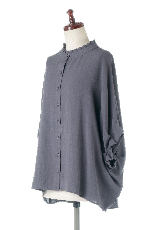 TuckedDolmanSleeveBlouseタックデザイン・ドルマンブラウス大人カジュアルに最適な海外ファッションのothers(その他インポートアイテム)のトップスやシャツ・ブラウス。ボックス型のタックデザインが可愛いソフトタッチの肌触りのブラウス。麻調のしっとりとした落ち感のある生地は袖口のタックのボリュームを綺麗に見せてくれます。/main-1