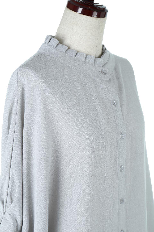 TuckedDolmanSleeveBlouseタックデザイン・ドルマンブラウス大人カジュアルに最適な海外ファッションのothers(その他インポートアイテム)のトップスやシャツ・ブラウス。ボックス型のタックデザインが可愛いソフトタッチの肌触りのブラウス。麻調のしっとりとした落ち感のある生地は袖口のタックのボリュームを綺麗に見せてくれます。/main-10