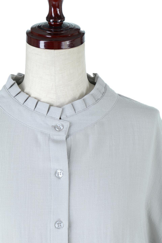 TuckedDolmanSleeveBlouseタックデザイン・ドルマンブラウス大人カジュアルに最適な海外ファッションのothers(その他インポートアイテム)のトップスやシャツ・ブラウス。ボックス型のタックデザインが可愛いソフトタッチの肌触りのブラウス。麻調のしっとりとした落ち感のある生地は袖口のタックのボリュームを綺麗に見せてくれます。/main-12
