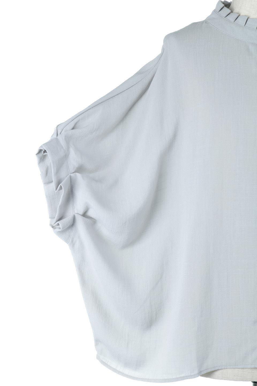 TuckedDolmanSleeveBlouseタックデザイン・ドルマンブラウス大人カジュアルに最適な海外ファッションのothers(その他インポートアイテム)のトップスやシャツ・ブラウス。ボックス型のタックデザインが可愛いソフトタッチの肌触りのブラウス。麻調のしっとりとした落ち感のある生地は袖口のタックのボリュームを綺麗に見せてくれます。/main-14