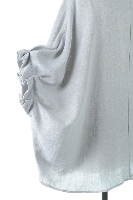 TuckedDolmanSleeveBlouseタックデザイン・ドルマンブラウス大人カジュアルに最適な海外ファッションのothers(その他インポートアイテム)のトップスやシャツ・ブラウス。ボックス型のタックデザインが可愛いソフトタッチの肌触りのブラウス。麻調のしっとりとした落ち感のある生地は袖口のタックのボリュームを綺麗に見せてくれます。/main-15