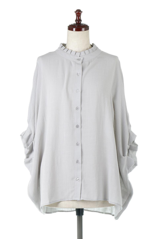 TuckedDolmanSleeveBlouseタックデザイン・ドルマンブラウス大人カジュアルに最適な海外ファッションのothers(その他インポートアイテム)のトップスやシャツ・ブラウス。ボックス型のタックデザインが可愛いソフトタッチの肌触りのブラウス。麻調のしっとりとした落ち感のある生地は袖口のタックのボリュームを綺麗に見せてくれます。/main-5