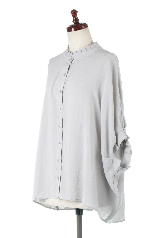 TuckedDolmanSleeveBlouseタックデザイン・ドルマンブラウス大人カジュアルに最適な海外ファッションのothers(その他インポートアイテム)のトップスやシャツ・ブラウス。ボックス型のタックデザインが可愛いソフトタッチの肌触りのブラウス。麻調のしっとりとした落ち感のある生地は袖口のタックのボリュームを綺麗に見せてくれます。/main-6
