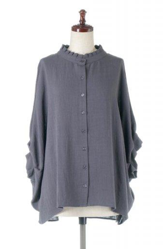 Tucked Dolman Sleeve Blouse  タックデザイン・ドルマンブラウス / 大人カジュアルに最適な海外ファッションが得意な福島市のセレクトショップbloom