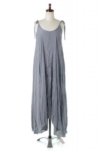 海外ファッションや大人カジュアルに最適なインポートセレクトアイテムのWasher Long Cami Dress ワッシャー・キャミワンピース