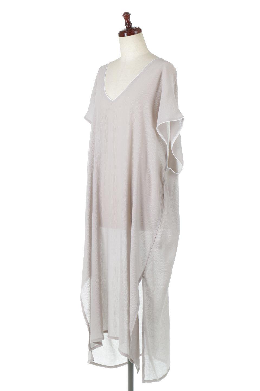 PipingHemChiffonKaftanDressシフォン生地・パイピングカフタンドレス大人カジュアルに最適な海外ファッションのothers(その他インポートアイテム)のワンピースやマキシワンピース。インナー次第でロングシーズン活躍するシアー素材のカフタンワンピース。肩の隠れる袖丈とゆったりとしたシルエットでストレス無く着られる1枚。/main-1
