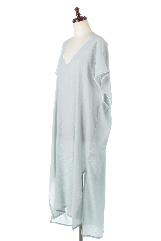 PipingHemChiffonKaftanDressシフォン生地・パイピングカフタンドレス大人カジュアルに最適な海外ファッションのothers(その他インポートアイテム)のワンピースやマキシワンピース。インナー次第でロングシーズン活躍するシアー素材のカフタンワンピース。肩の隠れる袖丈とゆったりとしたシルエットでストレス無く着られる1枚。/main-11
