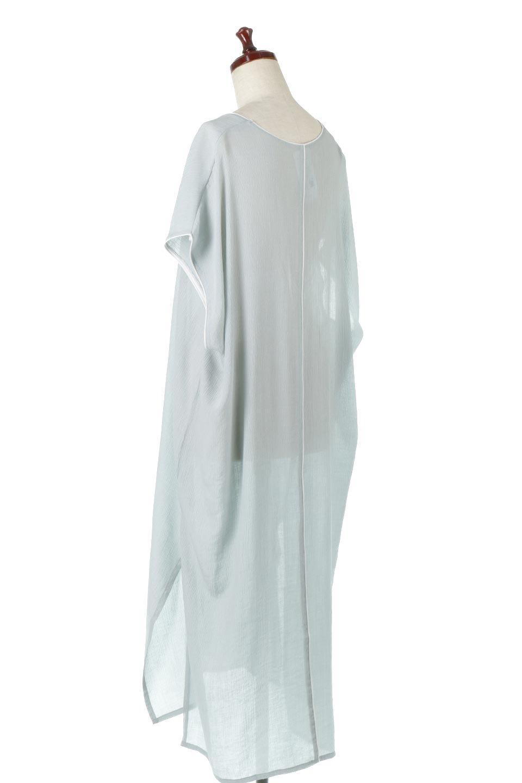 PipingHemChiffonKaftanDressシフォン生地・パイピングカフタンドレス大人カジュアルに最適な海外ファッションのothers(その他インポートアイテム)のワンピースやマキシワンピース。インナー次第でロングシーズン活躍するシアー素材のカフタンワンピース。肩の隠れる袖丈とゆったりとしたシルエットでストレス無く着られる1枚。/main-13