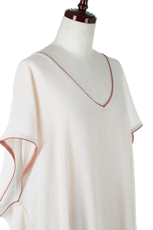 PipingHemChiffonKaftanDressシフォン生地・パイピングカフタンドレス大人カジュアルに最適な海外ファッションのothers(その他インポートアイテム)のワンピースやマキシワンピース。インナー次第でロングシーズン活躍するシアー素材のカフタンワンピース。肩の隠れる袖丈とゆったりとしたシルエットでストレス無く着られる1枚。/main-15