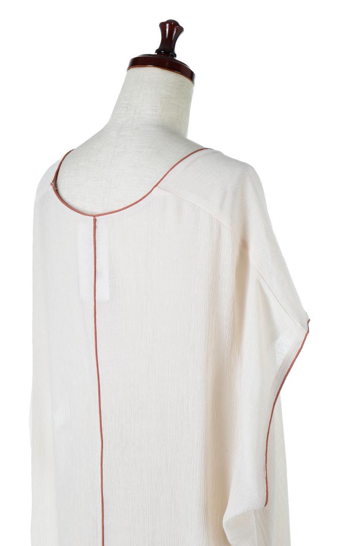 PipingHemChiffonKaftanDressシフォン生地・パイピングカフタンドレス大人カジュアルに最適な海外ファッションのothers(その他インポートアイテム)のワンピースやマキシワンピース。インナー次第でロングシーズン活躍するシアー素材のカフタンワンピース。肩の隠れる袖丈とゆったりとしたシルエットでストレス無く着られる1枚。/main-16