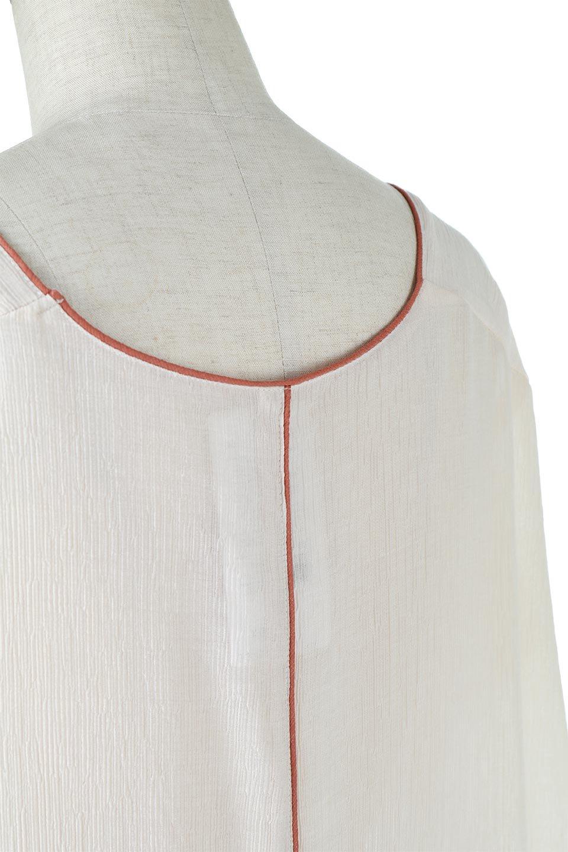 PipingHemChiffonKaftanDressシフォン生地・パイピングカフタンドレス大人カジュアルに最適な海外ファッションのothers(その他インポートアイテム)のワンピースやマキシワンピース。インナー次第でロングシーズン活躍するシアー素材のカフタンワンピース。肩の隠れる袖丈とゆったりとしたシルエットでストレス無く着られる1枚。/main-18