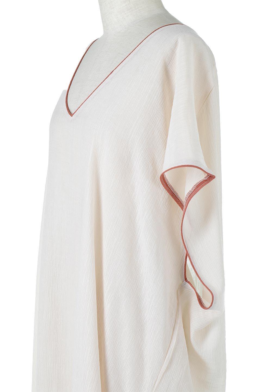 PipingHemChiffonKaftanDressシフォン生地・パイピングカフタンドレス大人カジュアルに最適な海外ファッションのothers(その他インポートアイテム)のワンピースやマキシワンピース。インナー次第でロングシーズン活躍するシアー素材のカフタンワンピース。肩の隠れる袖丈とゆったりとしたシルエットでストレス無く着られる1枚。/main-19