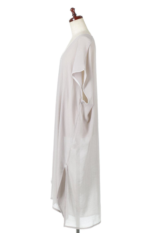 PipingHemChiffonKaftanDressシフォン生地・パイピングカフタンドレス大人カジュアルに最適な海外ファッションのothers(その他インポートアイテム)のワンピースやマキシワンピース。インナー次第でロングシーズン活躍するシアー素材のカフタンワンピース。肩の隠れる袖丈とゆったりとしたシルエットでストレス無く着られる1枚。/main-2