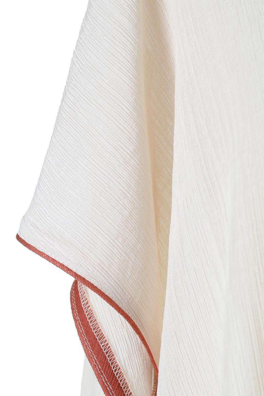 PipingHemChiffonKaftanDressシフォン生地・パイピングカフタンドレス大人カジュアルに最適な海外ファッションのothers(その他インポートアイテム)のワンピースやマキシワンピース。インナー次第でロングシーズン活躍するシアー素材のカフタンワンピース。肩の隠れる袖丈とゆったりとしたシルエットでストレス無く着られる1枚。/main-21