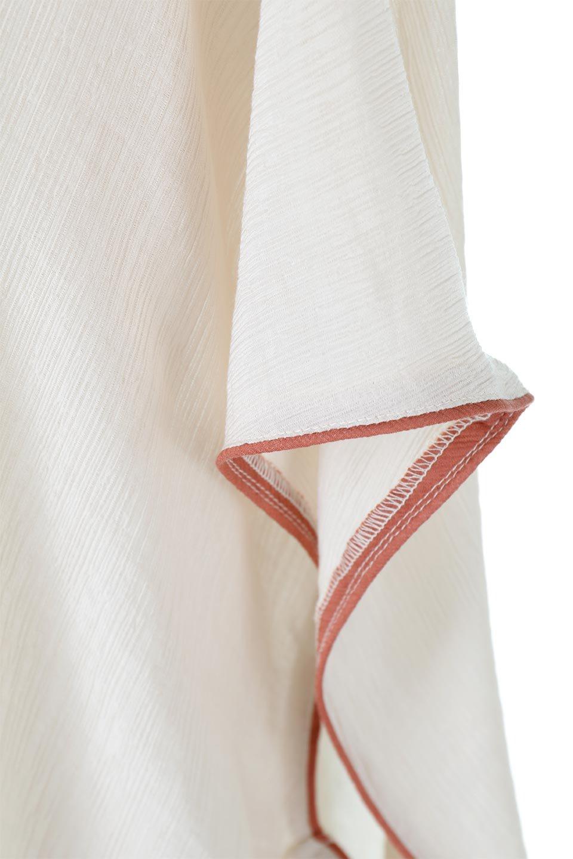 PipingHemChiffonKaftanDressシフォン生地・パイピングカフタンドレス大人カジュアルに最適な海外ファッションのothers(その他インポートアイテム)のワンピースやマキシワンピース。インナー次第でロングシーズン活躍するシアー素材のカフタンワンピース。肩の隠れる袖丈とゆったりとしたシルエットでストレス無く着られる1枚。/main-22