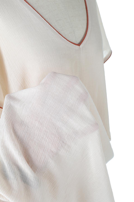 PipingHemChiffonKaftanDressシフォン生地・パイピングカフタンドレス大人カジュアルに最適な海外ファッションのothers(その他インポートアイテム)のワンピースやマキシワンピース。インナー次第でロングシーズン活躍するシアー素材のカフタンワンピース。肩の隠れる袖丈とゆったりとしたシルエットでストレス無く着られる1枚。/main-24