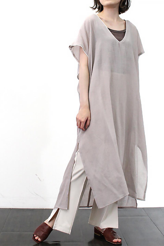 PipingHemChiffonKaftanDressシフォン生地・パイピングカフタンドレス大人カジュアルに最適な海外ファッションのothers(その他インポートアイテム)のワンピースやマキシワンピース。インナー次第でロングシーズン活躍するシアー素材のカフタンワンピース。肩の隠れる袖丈とゆったりとしたシルエットでストレス無く着られる1枚。/main-26