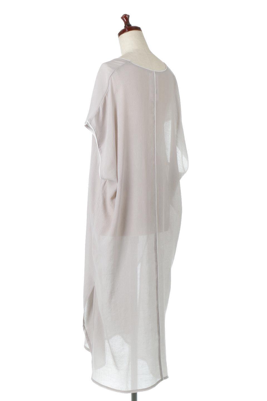 PipingHemChiffonKaftanDressシフォン生地・パイピングカフタンドレス大人カジュアルに最適な海外ファッションのothers(その他インポートアイテム)のワンピースやマキシワンピース。インナー次第でロングシーズン活躍するシアー素材のカフタンワンピース。肩の隠れる袖丈とゆったりとしたシルエットでストレス無く着られる1枚。/main-3
