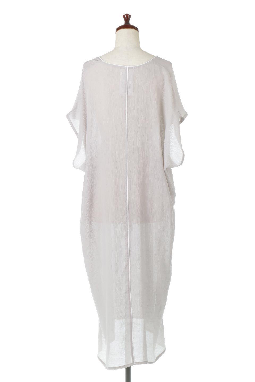 PipingHemChiffonKaftanDressシフォン生地・パイピングカフタンドレス大人カジュアルに最適な海外ファッションのothers(その他インポートアイテム)のワンピースやマキシワンピース。インナー次第でロングシーズン活躍するシアー素材のカフタンワンピース。肩の隠れる袖丈とゆったりとしたシルエットでストレス無く着られる1枚。/main-4