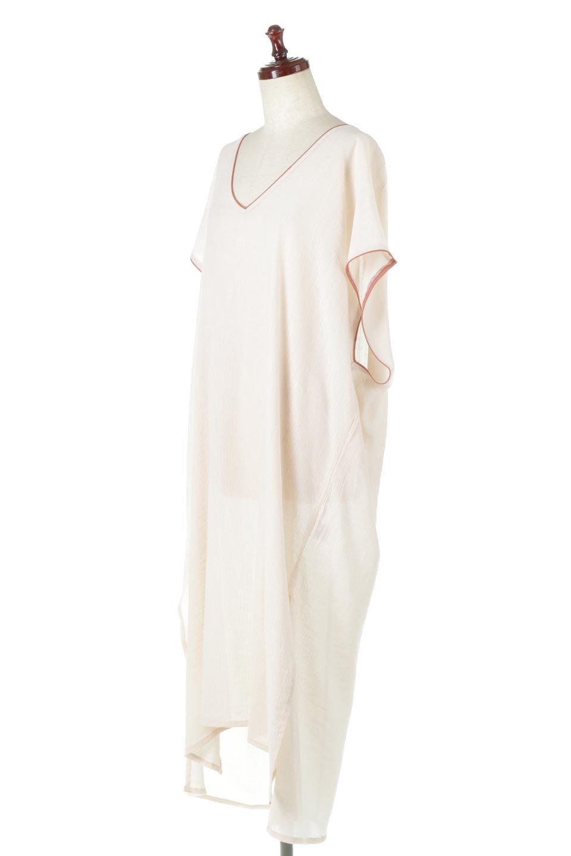 PipingHemChiffonKaftanDressシフォン生地・パイピングカフタンドレス大人カジュアルに最適な海外ファッションのothers(その他インポートアイテム)のワンピースやマキシワンピース。インナー次第でロングシーズン活躍するシアー素材のカフタンワンピース。肩の隠れる袖丈とゆったりとしたシルエットでストレス無く着られる1枚。/main-6