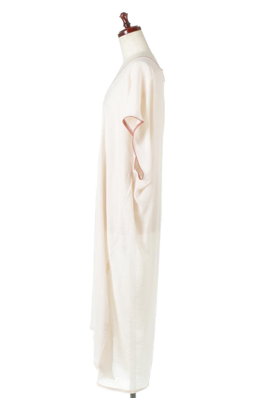 PipingHemChiffonKaftanDressシフォン生地・パイピングカフタンドレス大人カジュアルに最適な海外ファッションのothers(その他インポートアイテム)のワンピースやマキシワンピース。インナー次第でロングシーズン活躍するシアー素材のカフタンワンピース。肩の隠れる袖丈とゆったりとしたシルエットでストレス無く着られる1枚。/main-7