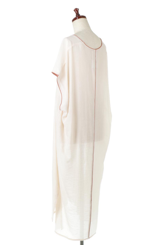 PipingHemChiffonKaftanDressシフォン生地・パイピングカフタンドレス大人カジュアルに最適な海外ファッションのothers(その他インポートアイテム)のワンピースやマキシワンピース。インナー次第でロングシーズン活躍するシアー素材のカフタンワンピース。肩の隠れる袖丈とゆったりとしたシルエットでストレス無く着られる1枚。/main-8