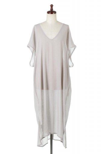Piping Hem Chiffon Kaftan Dress シフォン生地・パイピングカフタンドレス / 大人カジュアルに最適な海外ファッションが得意な福島市のセレクトショップbloom