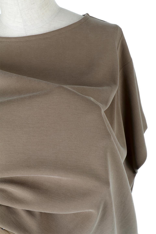 CocoonDesignWashedPullOverウォッシュ加工・コクーンプルオーバー大人カジュアルに最適な海外ファッションのothers(その他インポートアイテム)のトップスやカットソー。Tシャツのように気軽に使える、ドレープがきれいなカットソー。シルクのような滑らかさと光沢がある生地は見た目以上にしっかりしています。/main-23