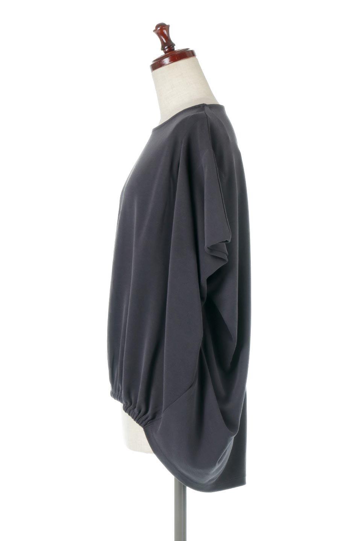 CocoonDesignWashedPullOverウォッシュ加工・コクーンプルオーバー大人カジュアルに最適な海外ファッションのothers(その他インポートアイテム)のトップスやカットソー。Tシャツのように気軽に使える、ドレープがきれいなカットソー。シルクのような滑らかさと光沢がある生地は見た目以上にしっかりしています。/main-6