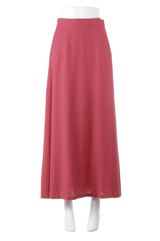 FrenchLinenSemiFlareSkirtフレンチリネン・セミフレアスカート大人カジュアルに最適な海外ファッションのothers(その他インポートアイテム)のボトムやスカート。こなれ感がある大人カジュアルにピッタリのリネン素材を使用したマキシスカート。バックベルトにのみゴム入りなのでウエストがスッキリ見えます。