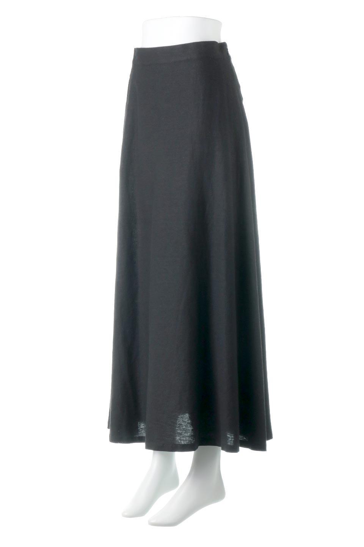 FrenchLinenSemiFlareSkirtフレンチリネン・セミフレアスカート大人カジュアルに最適な海外ファッションのothers(その他インポートアイテム)のボトムやスカート。こなれ感がある大人カジュアルにピッタリのリネン素材を使用したマキシスカート。バックベルトにのみゴム入りなのでウエストがスッキリ見えます。/main-11