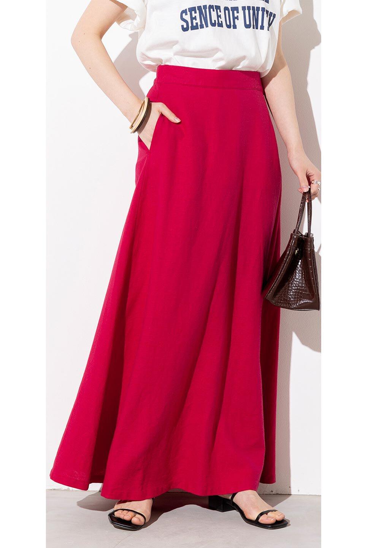 FrenchLinenSemiFlareSkirtフレンチリネン・セミフレアスカート大人カジュアルに最適な海外ファッションのothers(その他インポートアイテム)のボトムやスカート。こなれ感がある大人カジュアルにピッタリのリネン素材を使用したマキシスカート。バックベルトにのみゴム入りなのでウエストがスッキリ見えます。/main-22