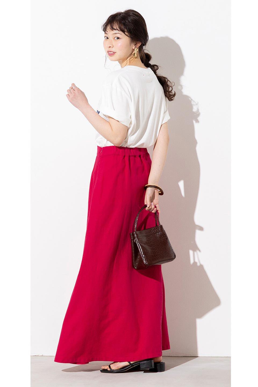 FrenchLinenSemiFlareSkirtフレンチリネン・セミフレアスカート大人カジュアルに最適な海外ファッションのothers(その他インポートアイテム)のボトムやスカート。こなれ感がある大人カジュアルにピッタリのリネン素材を使用したマキシスカート。バックベルトにのみゴム入りなのでウエストがスッキリ見えます。/main-23