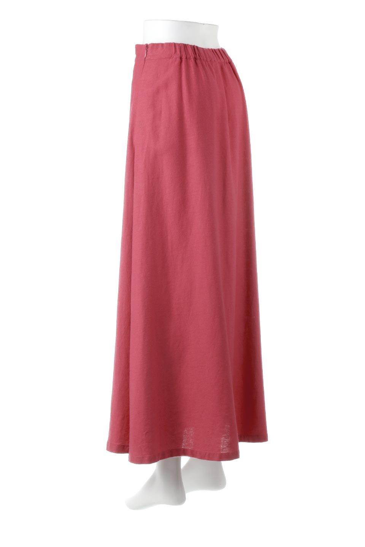 FrenchLinenSemiFlareSkirtフレンチリネン・セミフレアスカート大人カジュアルに最適な海外ファッションのothers(その他インポートアイテム)のボトムやスカート。こなれ感がある大人カジュアルにピッタリのリネン素材を使用したマキシスカート。バックベルトにのみゴム入りなのでウエストがスッキリ見えます。/main-3