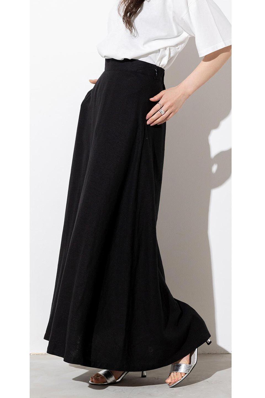 FrenchLinenSemiFlareSkirtフレンチリネン・セミフレアスカート大人カジュアルに最適な海外ファッションのothers(その他インポートアイテム)のボトムやスカート。こなれ感がある大人カジュアルにピッタリのリネン素材を使用したマキシスカート。バックベルトにのみゴム入りなのでウエストがスッキリ見えます。/main-30