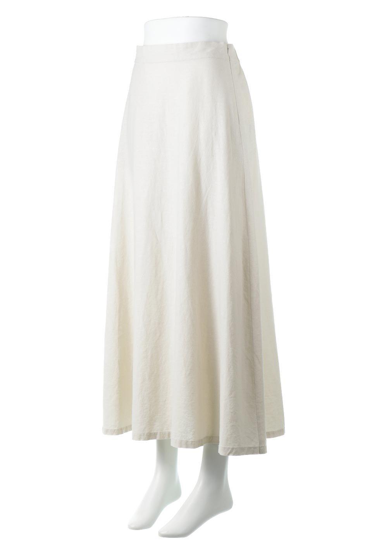 FrenchLinenSemiFlareSkirtフレンチリネン・セミフレアスカート大人カジュアルに最適な海外ファッションのothers(その他インポートアイテム)のボトムやスカート。こなれ感がある大人カジュアルにピッタリのリネン素材を使用したマキシスカート。バックベルトにのみゴム入りなのでウエストがスッキリ見えます。/main-6