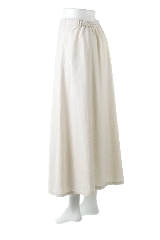 FrenchLinenSemiFlareSkirtフレンチリネン・セミフレアスカート大人カジュアルに最適な海外ファッションのothers(その他インポートアイテム)のボトムやスカート。こなれ感がある大人カジュアルにピッタリのリネン素材を使用したマキシスカート。バックベルトにのみゴム入りなのでウエストがスッキリ見えます。/main-8