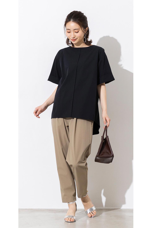 Anti-UVCoolTouchPants接触冷感+UV加工・テーパードパンツ大人カジュアルに最適な海外ファッションのothers(その他インポートアイテム)のボトムやパンツ。ウエストゴムでストレスフリーな履き心地のサラサラ触感のパンツ。ヒップもゆったりとゆとりをもたせているので下着のラインも気にならず、透け感もないので安心のアイテム。/main-19