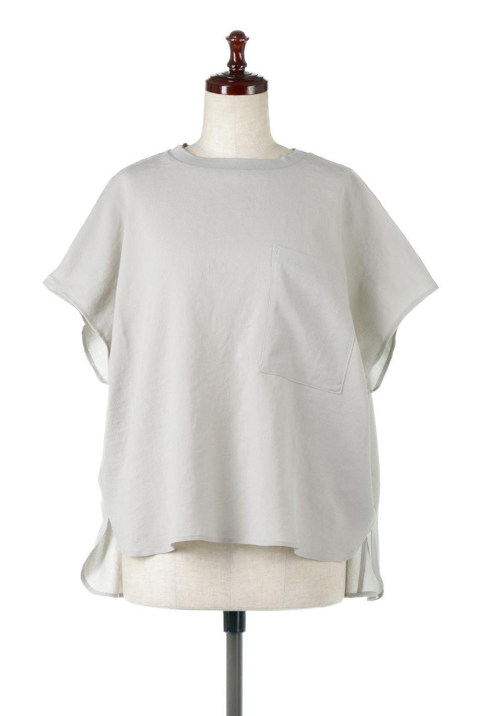 OverSizedBackGatherPullOverバックギャザー・オーバーTシャツ大人カジュアルに最適な海外ファッションのothers(その他インポートアイテム)のトップスやカットソー。ありそうでなかった麻のような質感が気持ち良い布帛生地のオーバーTシャツ。一見ビッグシルエットのTシャツのようですが、シャリっとした清涼感のあるタッチでシワになりにくい素材で、汗のべたつきも気になりにくいトップス。/main-11