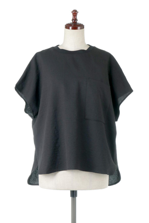 OverSizedBackGatherPullOverバックギャザー・オーバーTシャツ大人カジュアルに最適な海外ファッションのothers(その他インポートアイテム)のトップスやカットソー。ありそうでなかった麻のような質感が気持ち良い布帛生地のオーバーTシャツ。一見ビッグシルエットのTシャツのようですが、シャリっとした清涼感のあるタッチでシワになりにくい素材で、汗のべたつきも気になりにくいトップス。/main-15