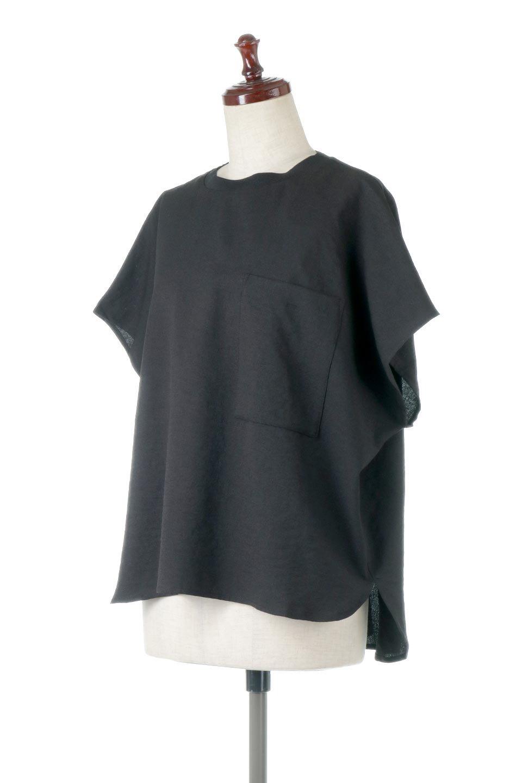 OverSizedBackGatherPullOverバックギャザー・オーバーTシャツ大人カジュアルに最適な海外ファッションのothers(その他インポートアイテム)のトップスやカットソー。ありそうでなかった麻のような質感が気持ち良い布帛生地のオーバーTシャツ。一見ビッグシルエットのTシャツのようですが、シャリっとした清涼感のあるタッチでシワになりにくい素材で、汗のべたつきも気になりにくいトップス。/main-16