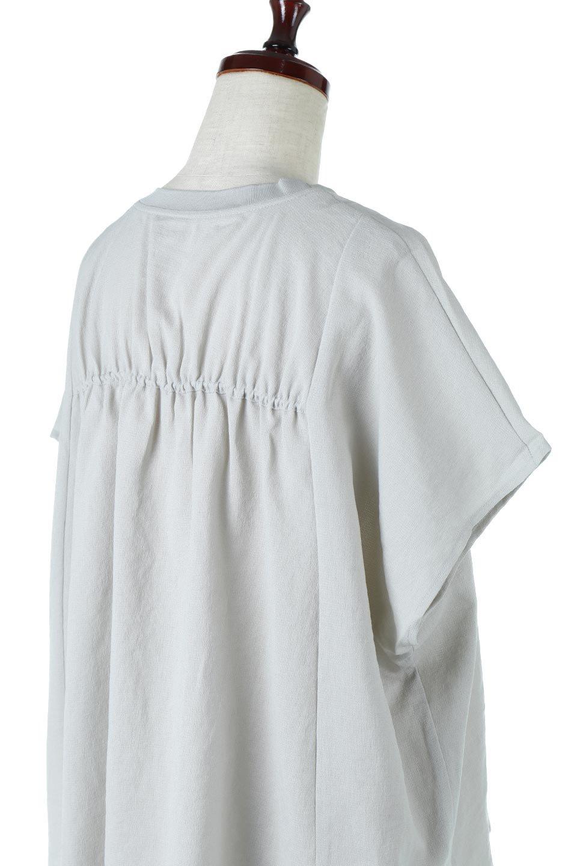 OverSizedBackGatherPullOverバックギャザー・オーバーTシャツ大人カジュアルに最適な海外ファッションのothers(その他インポートアイテム)のトップスやカットソー。ありそうでなかった麻のような質感が気持ち良い布帛生地のオーバーTシャツ。一見ビッグシルエットのTシャツのようですが、シャリっとした清涼感のあるタッチでシワになりにくい素材で、汗のべたつきも気になりにくいトップス。/main-23