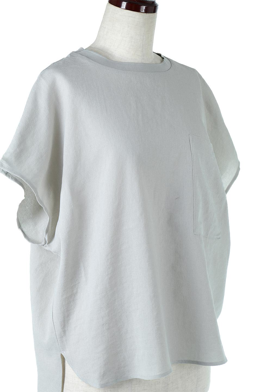 OverSizedBackGatherPullOverバックギャザー・オーバーTシャツ大人カジュアルに最適な海外ファッションのothers(その他インポートアイテム)のトップスやカットソー。ありそうでなかった麻のような質感が気持ち良い布帛生地のオーバーTシャツ。一見ビッグシルエットのTシャツのようですが、シャリっとした清涼感のあるタッチでシワになりにくい素材で、汗のべたつきも気になりにくいトップス。/main-24