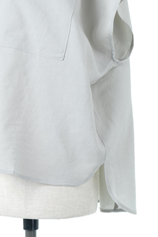 OverSizedBackGatherPullOverバックギャザー・オーバーTシャツ大人カジュアルに最適な海外ファッションのothers(その他インポートアイテム)のトップスやカットソー。ありそうでなかった麻のような質感が気持ち良い布帛生地のオーバーTシャツ。一見ビッグシルエットのTシャツのようですが、シャリっとした清涼感のあるタッチでシワになりにくい素材で、汗のべたつきも気になりにくいトップス。/main-26