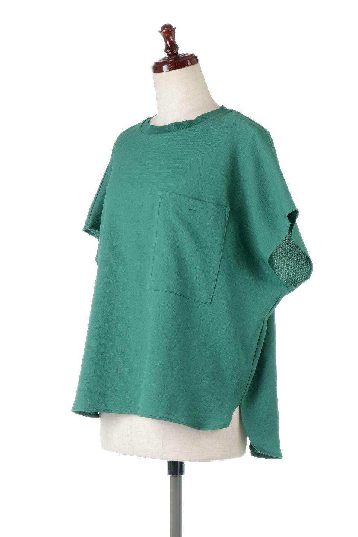 OverSizedBackGatherPullOverバックギャザー・オーバーTシャツ大人カジュアルに最適な海外ファッションのothers(その他インポートアイテム)のトップスやカットソー。ありそうでなかった麻のような質感が気持ち良い布帛生地のオーバーTシャツ。一見ビッグシルエットのTシャツのようですが、シャリっとした清涼感のあるタッチでシワになりにくい素材で、汗のべたつきも気になりにくいトップス。/main-5