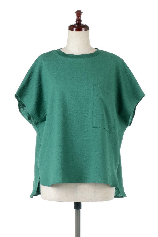 OverSizedBackGatherPullOverバックギャザー・オーバーTシャツ大人カジュアルに最適な海外ファッションのothers(その他インポートアイテム)のトップスやカットソー。ありそうでなかった麻のような質感が気持ち良い布帛生地のオーバーTシャツ。一見ビッグシルエットのTシャツのようですが、シャリっとした清涼感のあるタッチでシワになりにくい素材で、汗のべたつきも気になりにくいトップス。/main-8