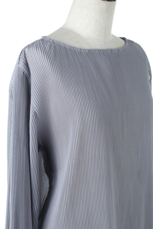 MicroPleatedVolumeSleeveBlouseミニプリーツ・ボリュームスリーブブラウス大人カジュアルに最適な海外ファッションのothers(その他インポートアイテム)のトップスやシャツ・ブラウス。光沢のあるミニプリーツの素材感が魅力の長袖ブラウス。ボリュームのある袖の可愛さと素材の大人っぽさで年令問わず楽しめるブラウスです。/main-10